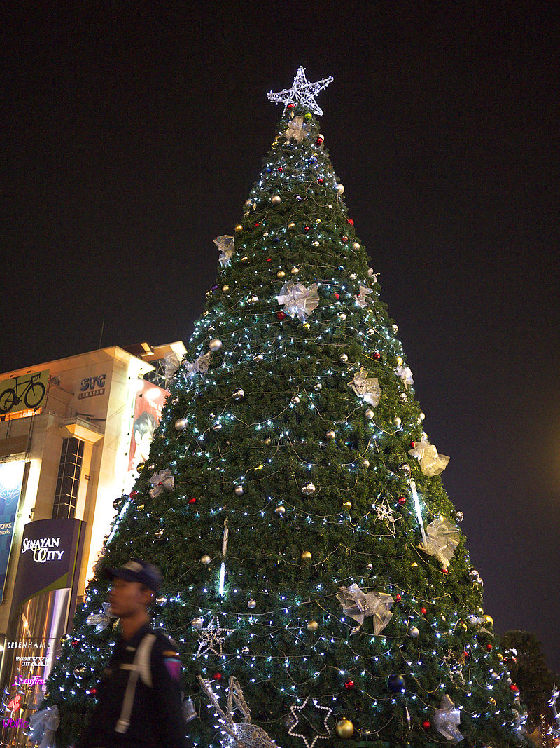 A Christmas Tree in Jakarta, Indonesia via Wiki Commons