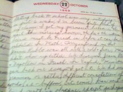 diary 1969 page
