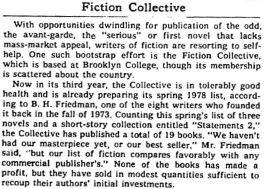 Fiction Collective NYTBR May 1977