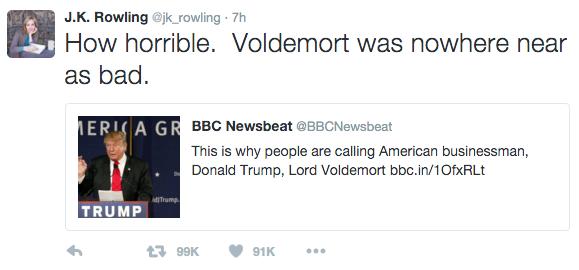 Twitter / JK Rowling