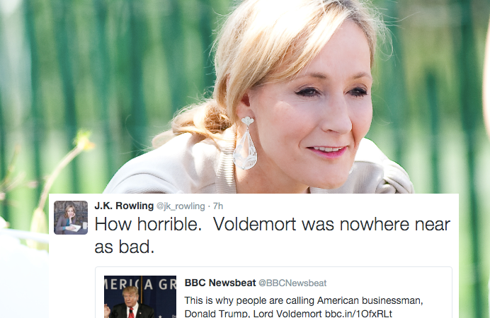 JK Rowling Says She'd Take Lord Voldemort Over Donald Trump