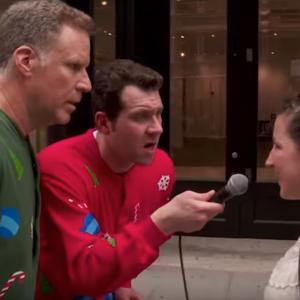 Billy Eichner And Will Ferrell Spread Holiday Cheer The Only Way They Know How