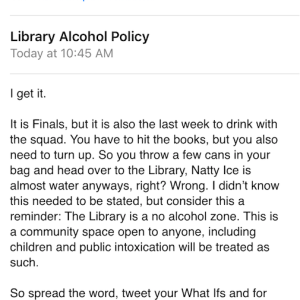 This Fed-Up Librarian Totally Roasts Students For Getting Wasted In The Library