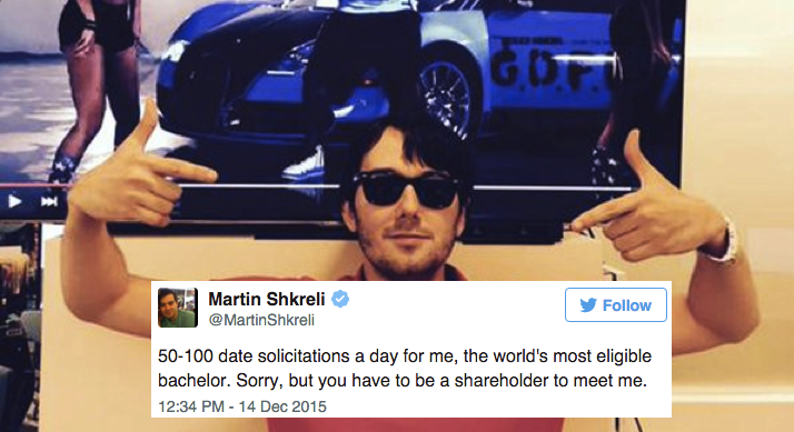 14 Tweets From Martin Shkreli That Are Somehow As Terrible As He Is
