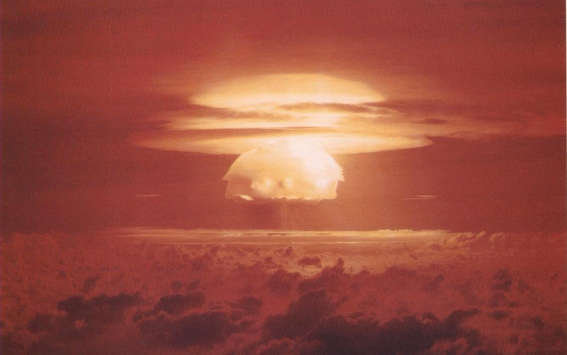 Castle Bravo explosion (15 megatons) via Wiki Commons