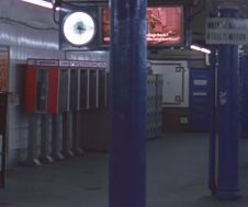 subway clock phones locker
