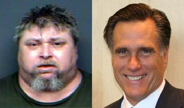 Left: Lowell Turpin (Anderson County Sheriff's Office). Right: Mitt Romney. (Wikimedia Commons)