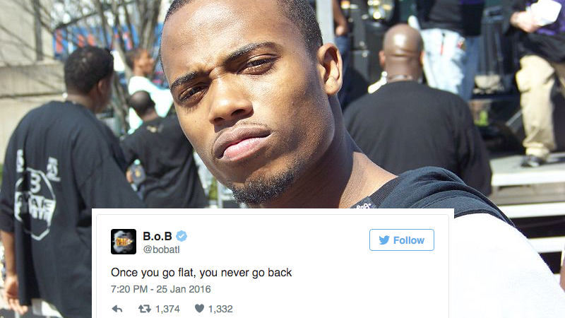26 Tweets From Rapper B.o.B. That Prove (In His Mind) That The Earth Is Actually Flat