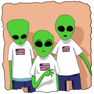 Just A Few Aliens Trying To Live The American Dream, Nothing To See Here…