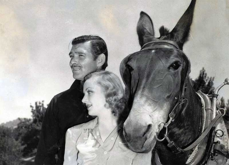 Clark Gable, Carole Lombard, and friend. (Wikimedia Commons)