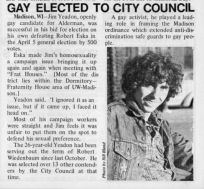 Gay Elected to City Council
