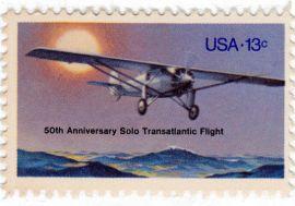 Lindbergh stamp 1977