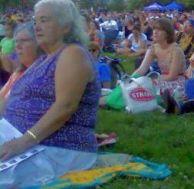 Park opera crowd