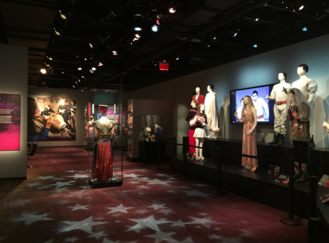 Costume section of the SNL exhibit.