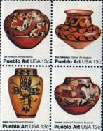 stamps pueblo art