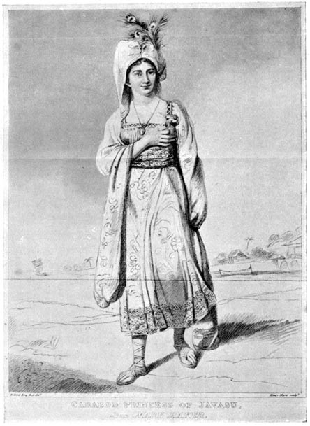 "Engraving of Mary Baker, AKA ""Princess Caraboo."" (Wikimedia Commons)"