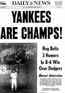 Daily News Yankees are Champs