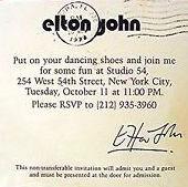 Elton John Studio 54