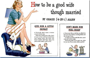 Gracie Allen how to be good wife