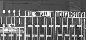 LIU gate sign