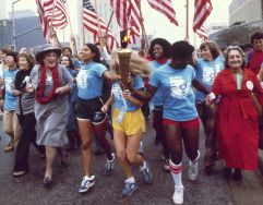 National WOmen's Conference Abzug Friedan and runners
