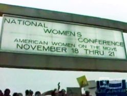 National Women's Conference sign