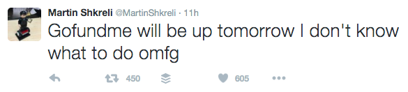 Twitter / Martin Shkreli