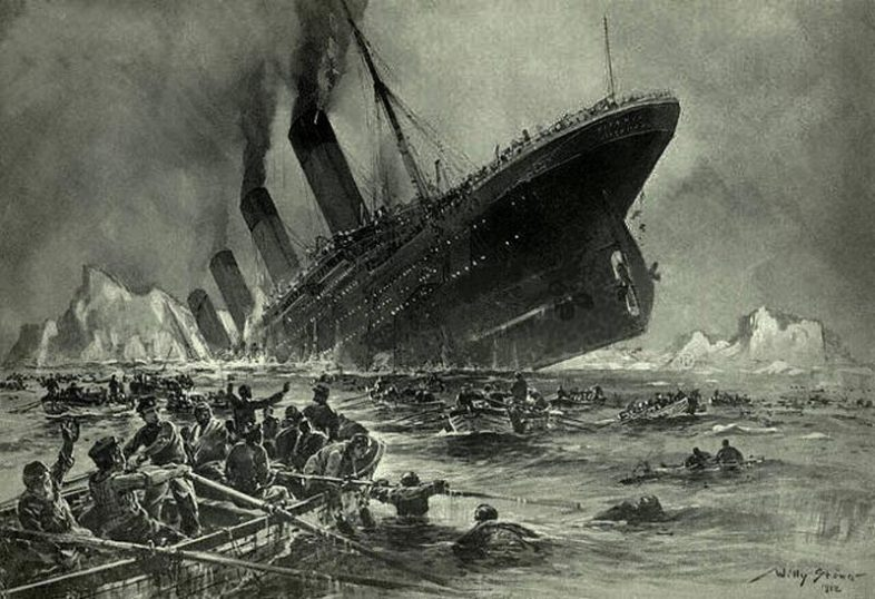 The Sinking of the Titanic by Willy Stöwer. (Wikimedia Commons)