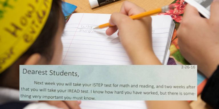 Inspirational Teacher Tells Anxious Students EXACTLY How Much Standardized TestsMatter