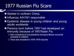1977 Russian Flu scare