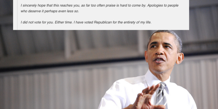 Lifelong Republican Pens This Heartbreaking Letter Thanking President Obama For 'Saving His Life'