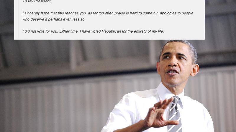 Lifelong Republican Pens This Heartbreaking Letter Thanking President Obama For 'Saving HisLife'
