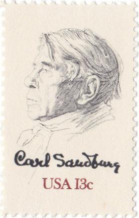 Carl Sandberg stamp