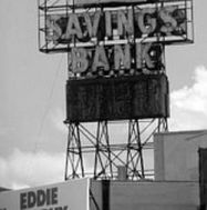 Dime Savings Bank sign bw