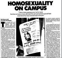 homosexuality on campus nyt 1978