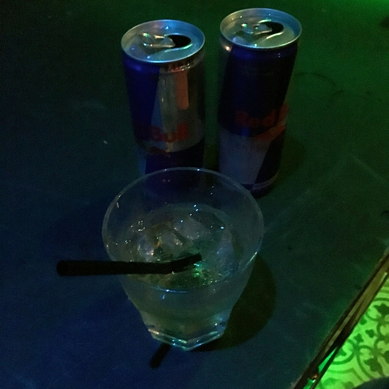 Red Bull also sponsored my recovery from having to do a three-way phone call in a concert venue bathroom stall.