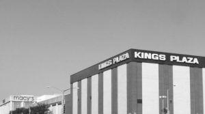 Kings Plaza BW sign