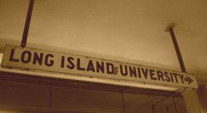 LIU sign on subway