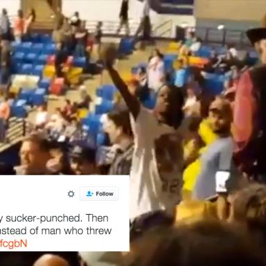 Shocking Video Shows A Trump Supporter Sucker Punching A Black Protestor At North Carolina Rally