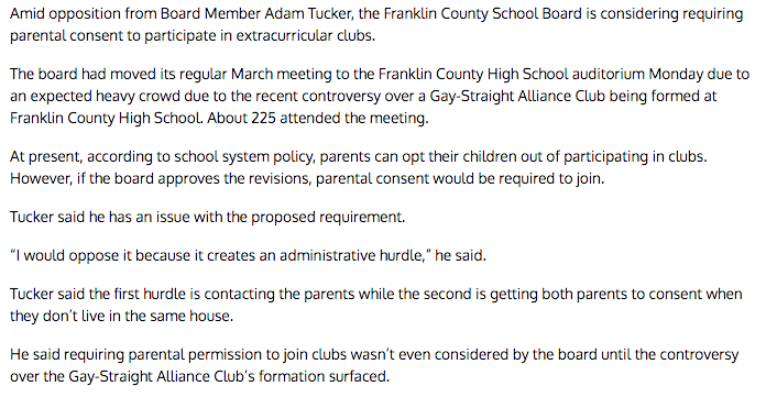 Here Are All The Dumbasses Condemning A High School's Gay-Straight AllianceClub