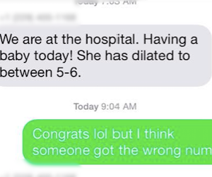 This Is What Happens When A Rando Gets Added To A Group Text About Someone Giving Birth (It's Hilarious)