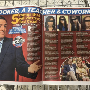 Did Ted Cruz Actually Have Numerous Affairs While His Wife Was Depressed Or Is It All Bullshit?