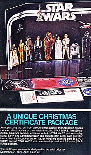 Star Wars 1977 Xmas certificate