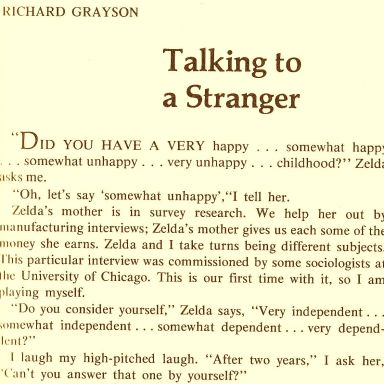 A 26-Year-Old's Diary Entries From Late January, 1978