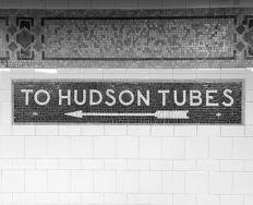 to hudson tubes bw