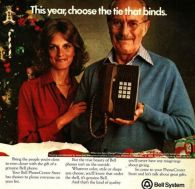 Xmas push button phone ad