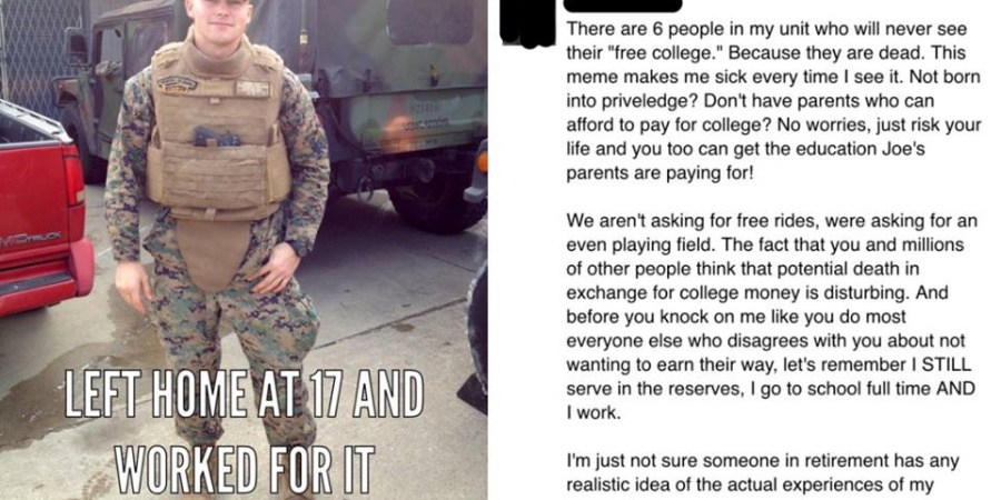 Soldier Tears Apart Right-Wing Argument That People Who Want Free College Should Join TheMilitary
