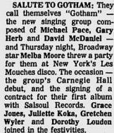 Gotham party gossip column