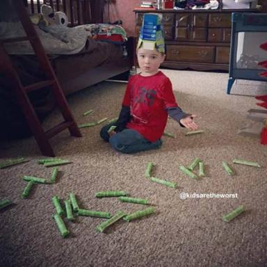 41 Messy But Adorable Photos That Prove Kids Really Are The Worst