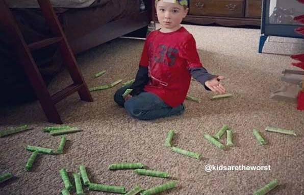 41 Messy But Adorable Photos That Prove Kids Really Are TheWorst
